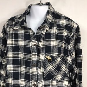 Abercrombie kids 13/14 flannel shirt
